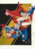 Supergirl vs Superman  E-BAY AUCTION NOW !!!! by BrenoMoreira