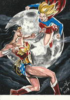 Wonder Woman vs Super Girl E-BAY AUCTION NOW !!!! by BrenoMoreira
