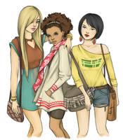 Cornelia, Taranee, Hay Lin by kimpertinent
