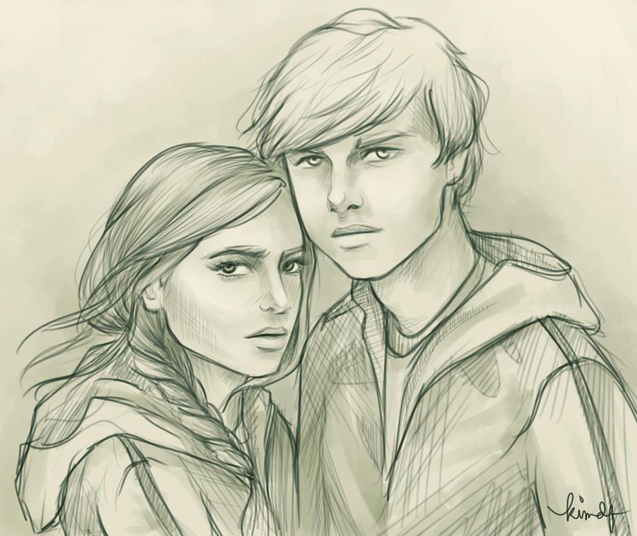 Katniss and Peeta by kimpertinent on DeviantArt  Katniss And Peeta Fan Art Love