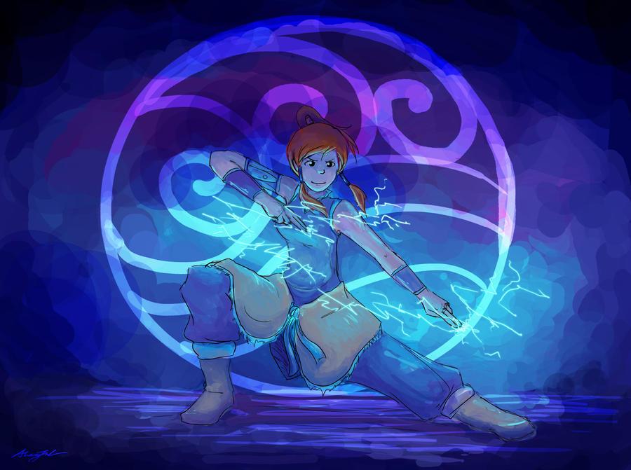 legend of korra: lightning by kimchiiWOOt
