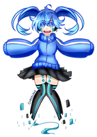 Commission - Ene Wants to Play! by CubedCake