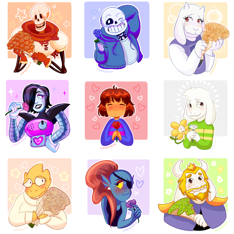 undertale_rose_collection_by_cubedcake-d