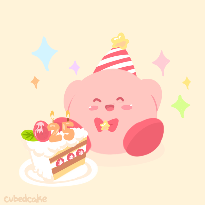 happy 25th birthday kirby by cubedcake on deviantart