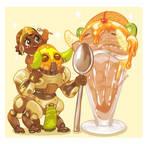 Overwatch Food Set - Orisa's Ice Cream Sundae