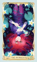LWA Tarot Card Zine: XII - The Hanged Man by CubedCake