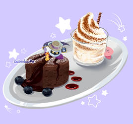 Meta Knight's Chocolate Fondant by CubedCake
