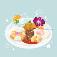 Kirby's Summer Vacation Plate