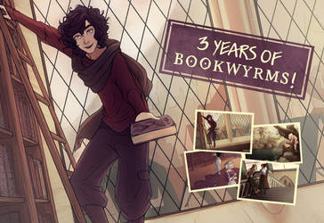 Happy Anniversary, Bookwyrms! by Simbelmina