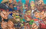 Mortal Kombat vs Street Fighter Art 2021