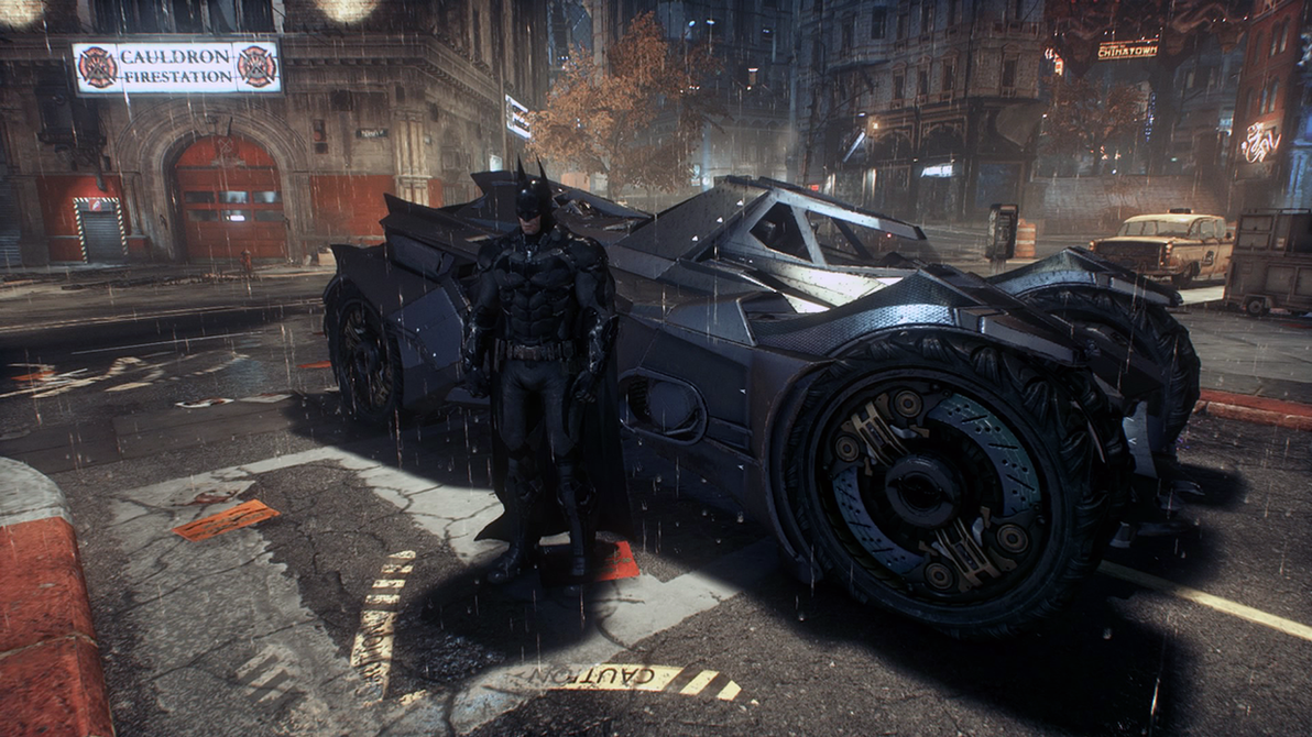 Batman and Batmobile - Batman Arkham Knight by Yurtigo on ...