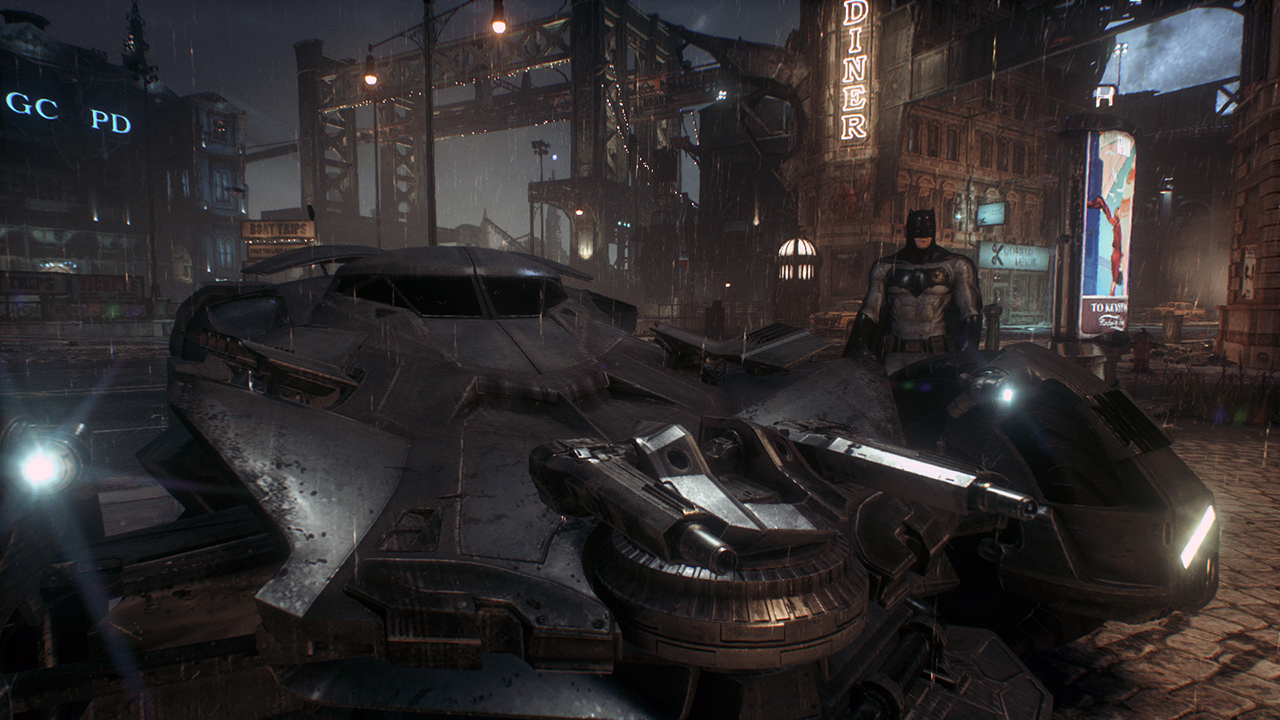 Batman and Batmobile 2016 - Batman Arkham Knight by ...