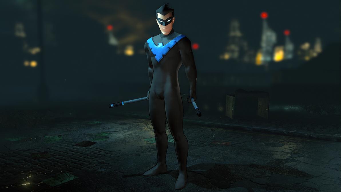 Animated Nightwing - Batman: Arkham City by Yurtigo on ...
