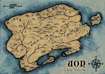 World of Uon - fantasy map for RPGSoc