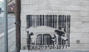 Dog peeing on barcode by 42TBA