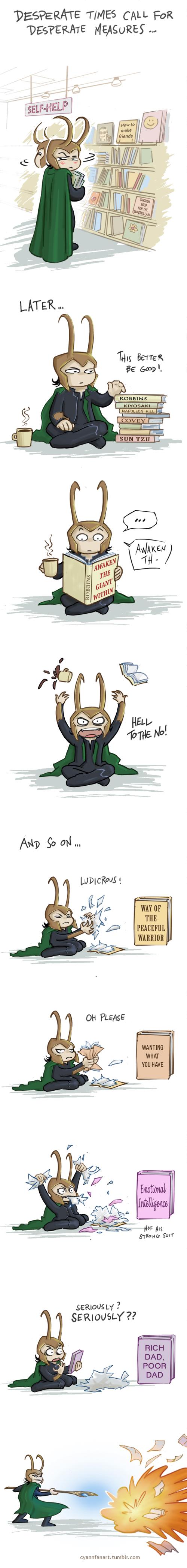 Loki tries something new by CyannFanArt