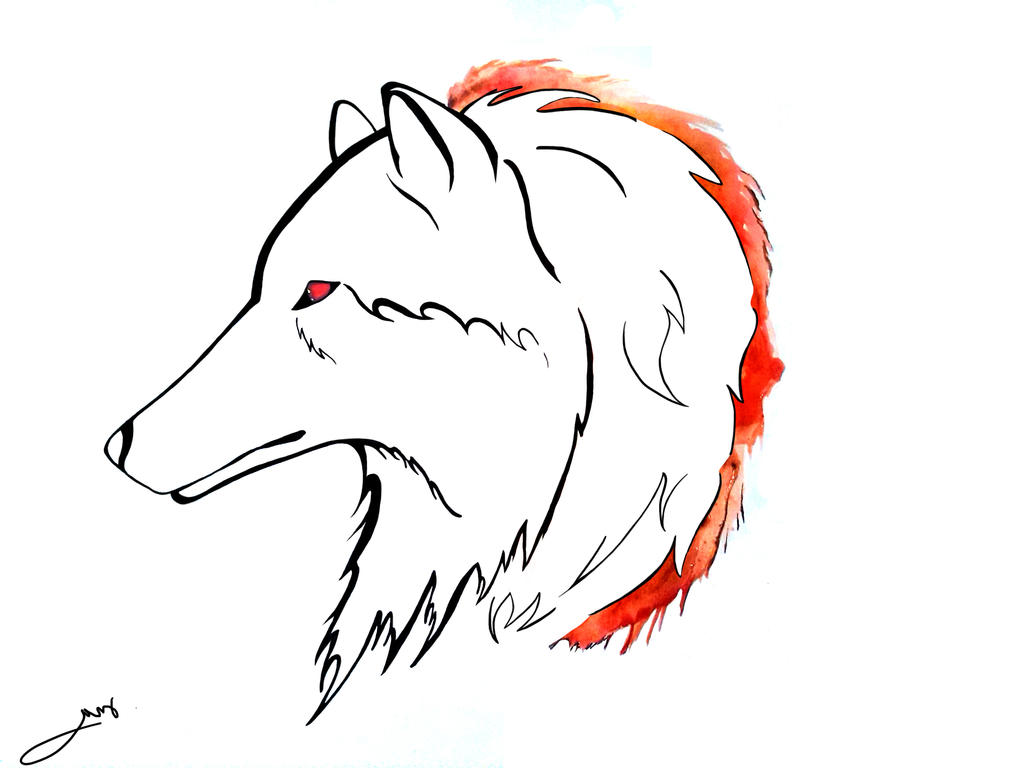 flaming wolf tattoo by arafelshadow on deviantart