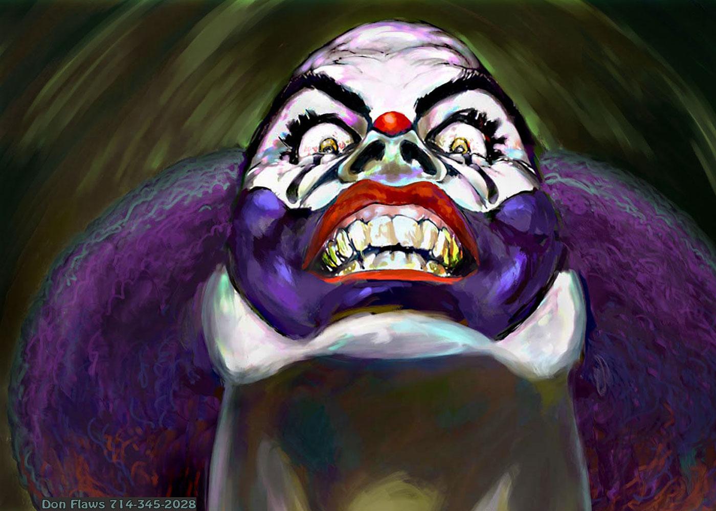 Evil Clown by feral714