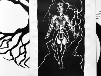 Storm - Inktober Day 4 by 1vyDoodle