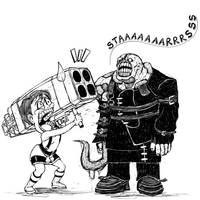 [Sketch] Resident Evil 3 Cartoon by almost-leonan