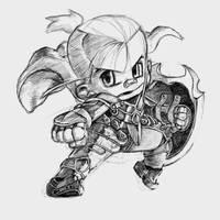 [Sketch] Chibi 02 by almost-leonan