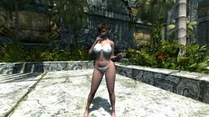Curvy girl in private garden 6