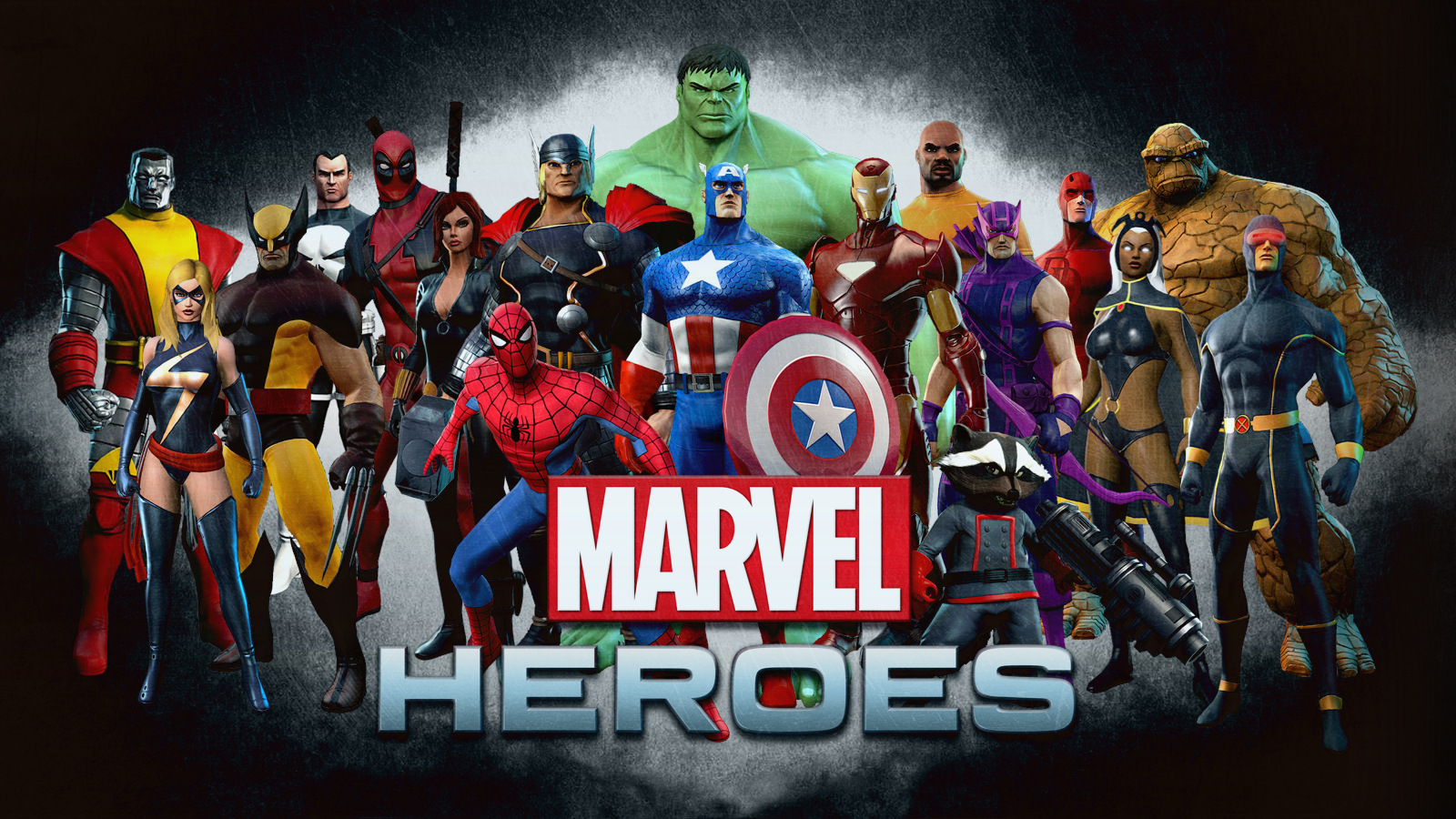 Marvel heroes wallpaper by squiddytron