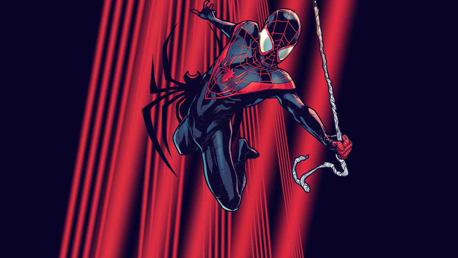 Ultimate Spiderman Miles Morales Wallpaper
