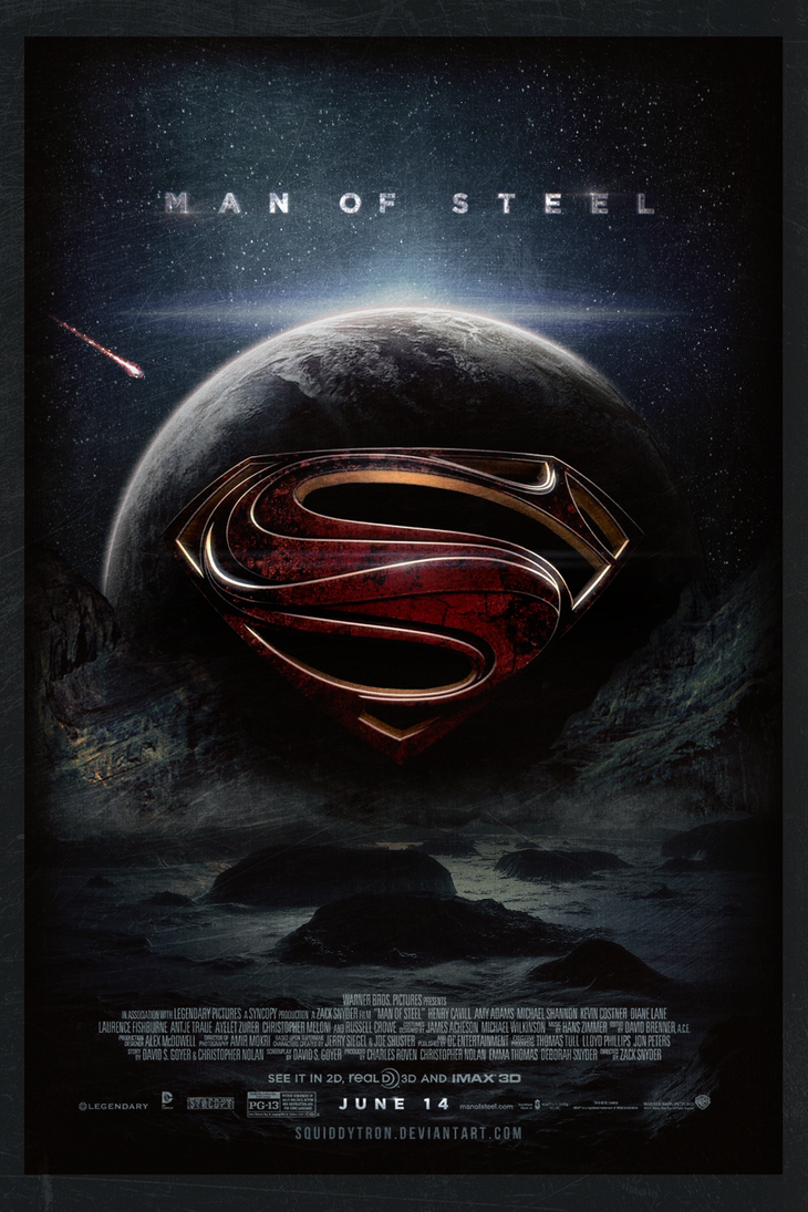 Man of Steel   Theatrical Poster by Squiddytron on DeviantArt