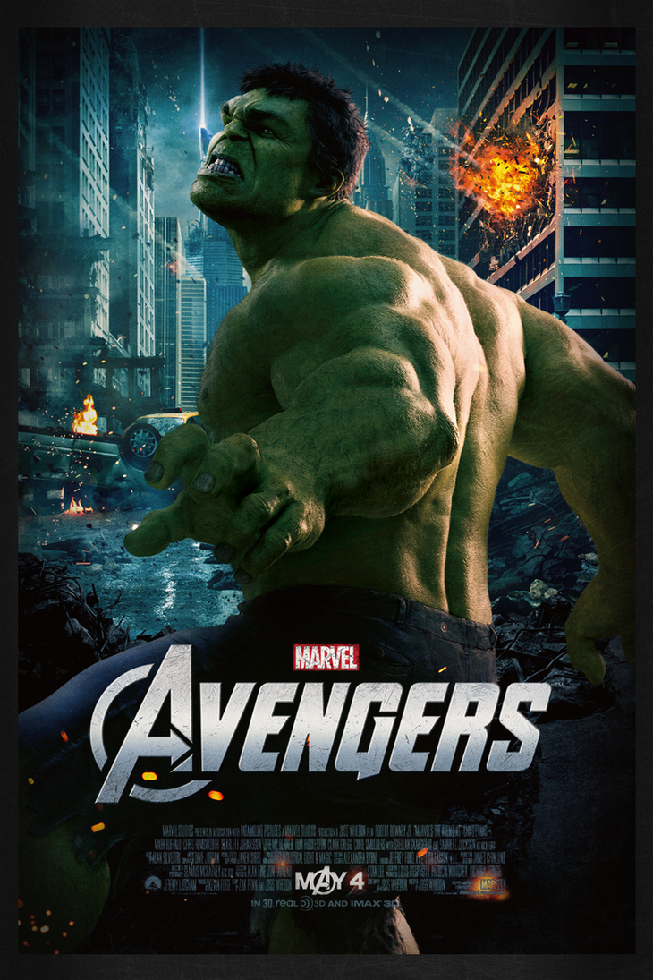 The Avengers: Hulk | Theatrical Poster by Squiddytron on ...