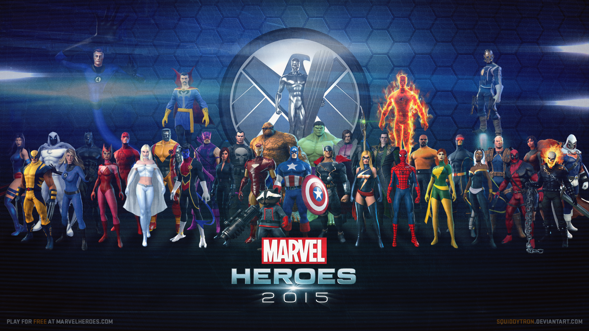 marvel heroes wallpaper updated w star lord marvel