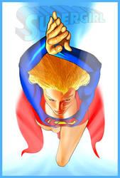 Supergirl digital painting