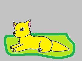 Laying down by FlareTheFireWolf