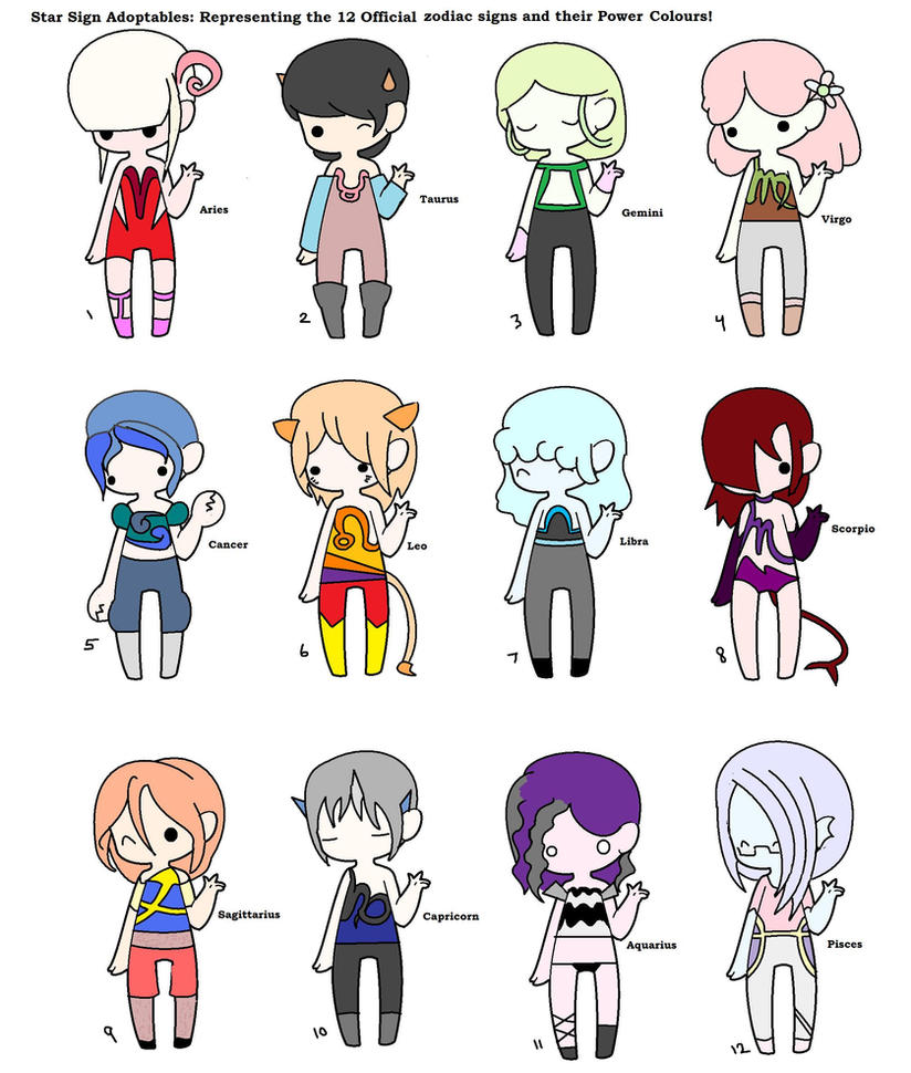 Star sign chibis power colours by future luke on deviantart for What is my star sign