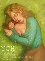 flower meadow YCH by NIICHEL