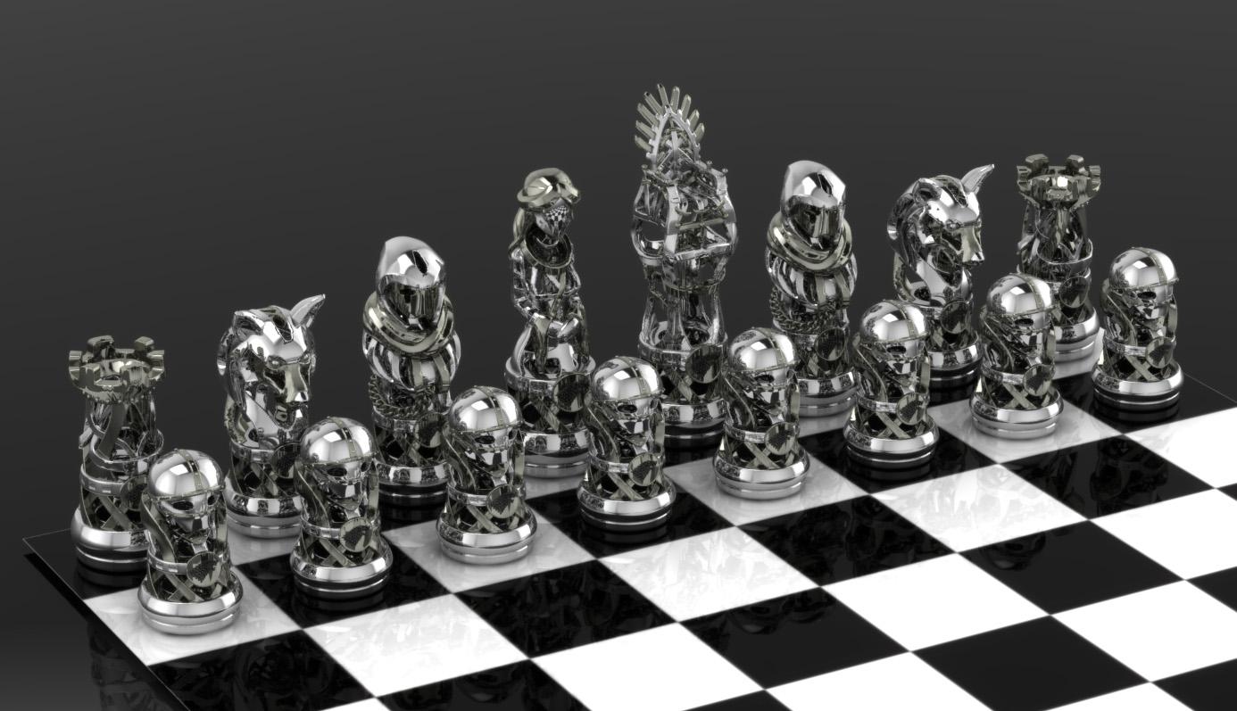 Got Stark Chess Set By Geospooky