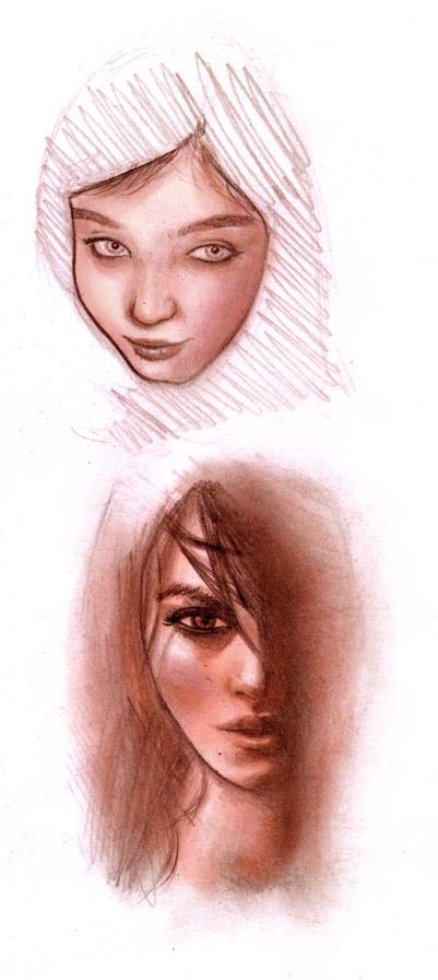 rostros femeninos by yacc