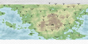 Erias Worldmap with grid and Citys