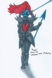 Day25 Undyne The Undying Undertaledrawingchallenge by MissRoxanne123