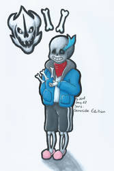 Day 27 Sans Genocide Undertale drawing challenge by MissRoxanne123