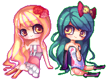 Pixel Com: Friends forevaaaa by Little-Miss-RiikoRed