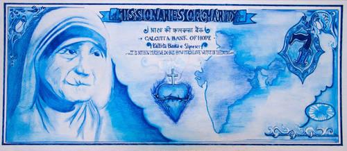 Bank of Hope Money Currency - Mother Teresa by AdrianaAG