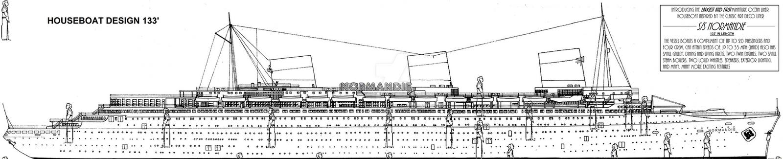 Houseboat Design SS NORMANDIE by mdstras on DeviantArt