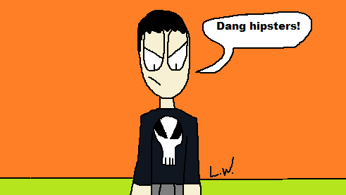 The Punisher vs Hipsters by LRW0077