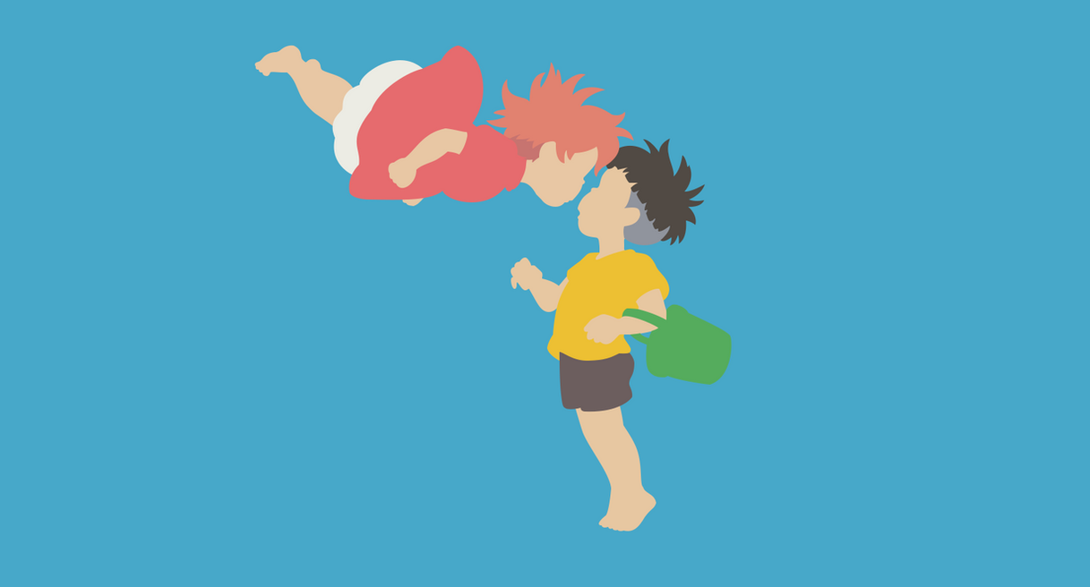 Ponyo and Sosuke Minimalistic Vexel by Sosukeh on DeviantArt