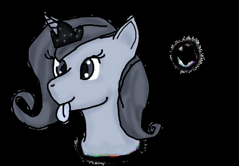 Goofy grey-scale Luna by WoefulWriters