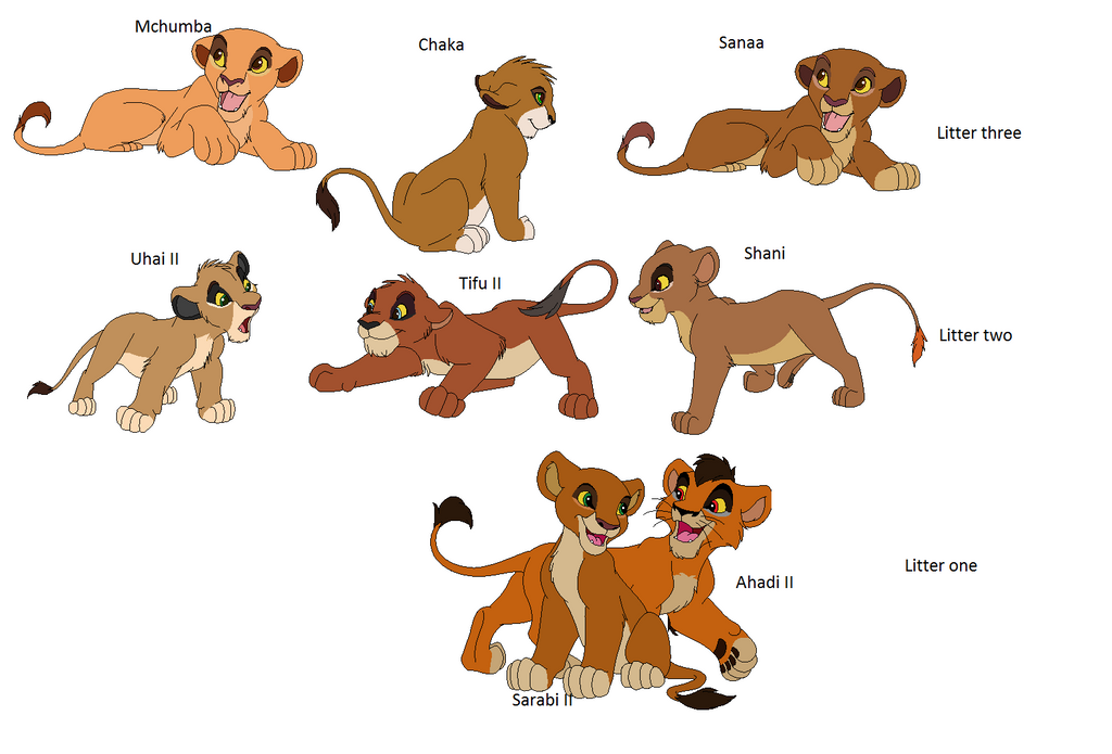 ¿porque creen kovu y kiara tuvieron taantos hijos? Cubs_of_kovu_and_kiara_by_woefulwriters-d71vi04