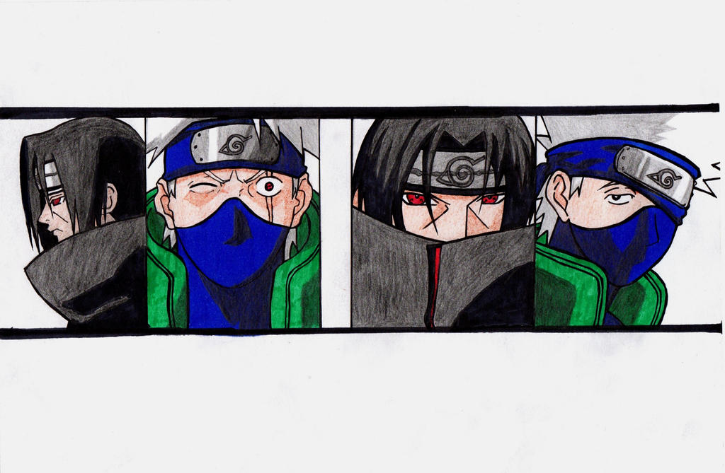 Kakashi and Itachi by GerryPro