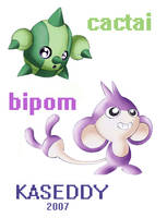 PoKeMoN:cactai and bipom by kaseddy