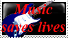 Music saves lives stamps